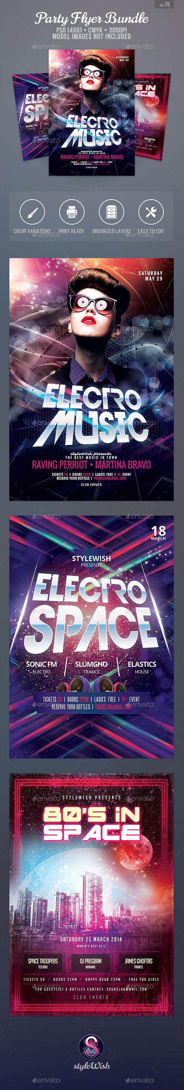Party Flyer Bundle Vol.19 - Clubs & Parties Events