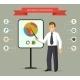 Smiling Cartoon Businessman Giving a Presentation - GraphicRiver Item for Sale