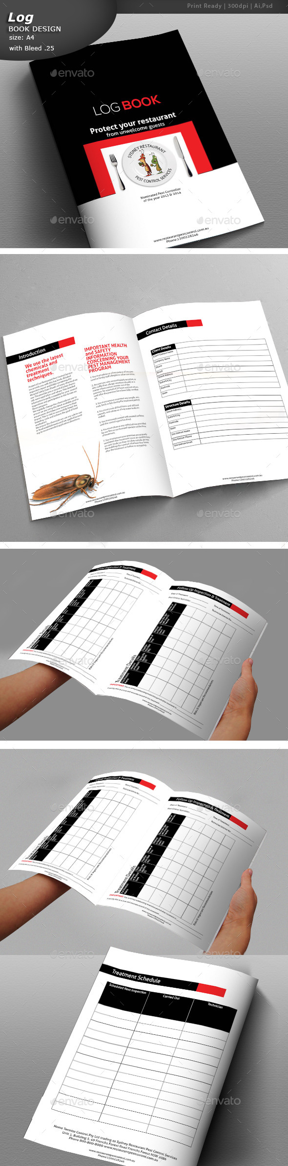GraphicRiver Log Book Design 11298492