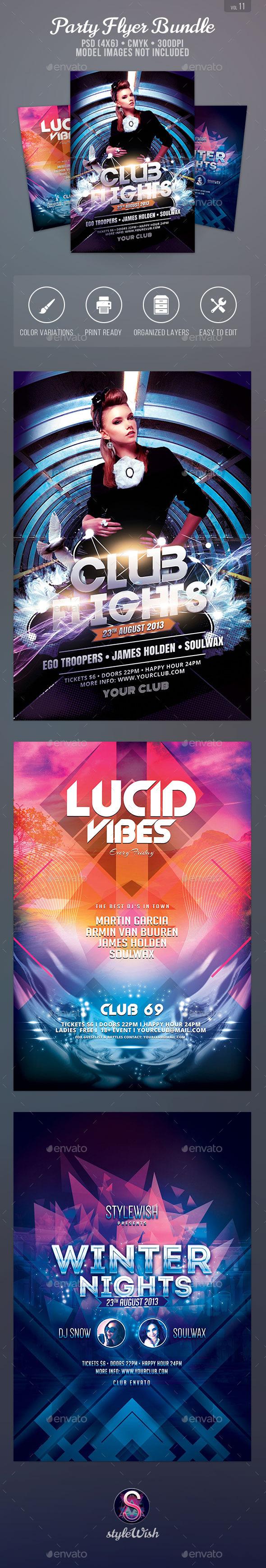 Party Flyer Bundle Vol11 - Clubs & Parties Events