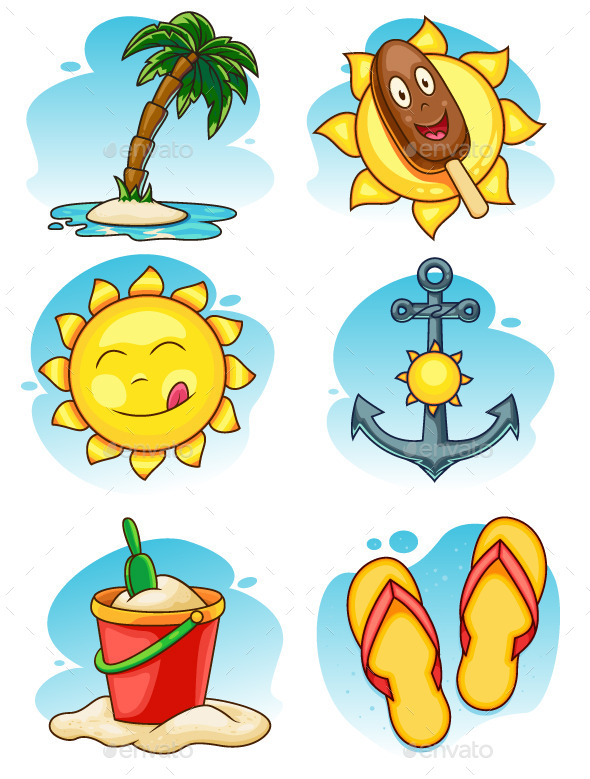 GraphicRiver Summer Vector Illustrations Set 11298697