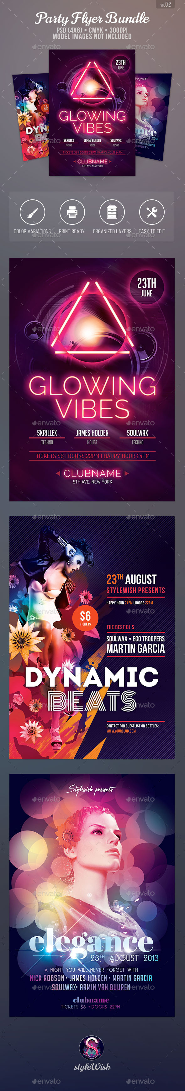 Top Party Flyer Bundle Vol.2 - Clubs & Parties Events