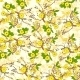 Tree Branch With Yellow Flowers Abstract Nature - GraphicRiver Item for Sale