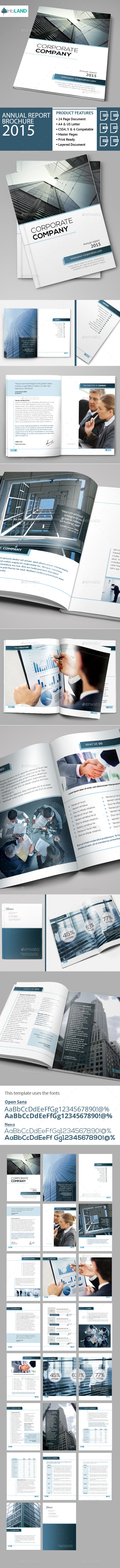 GraphicRiver Annual Report Brochure 2015 11298766