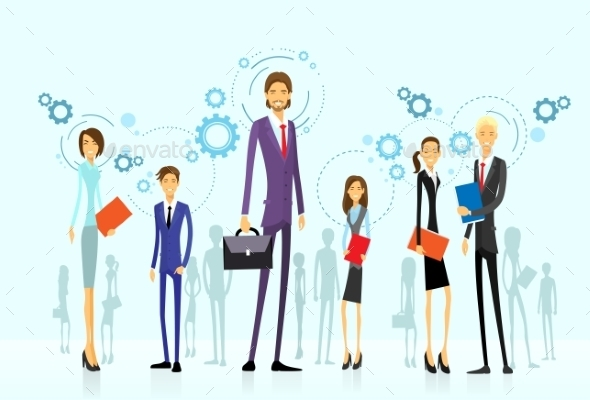 GraphicRiver Businesspeople Team Group Human Resource Flat 11298767
