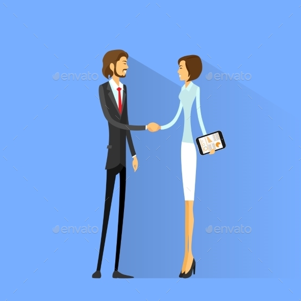 GraphicRiver Business People Handshake Businessman 11298784