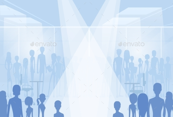 GraphicRiver Businesspeople Silhouettes In Office Copy Space 11298867