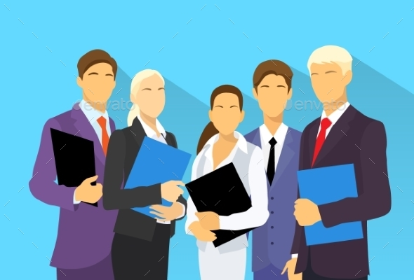 GraphicRiver Business People Group Human Resources Flat Vector 11298900
