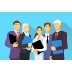 Business People Group Human Resources Flat Vector - GraphicRiver Item for Sale