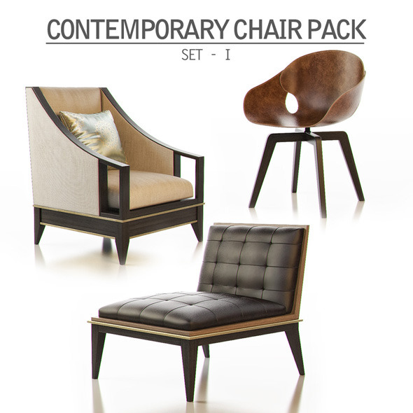 3DOcean Contemporary Chair Pack Set I 11298916