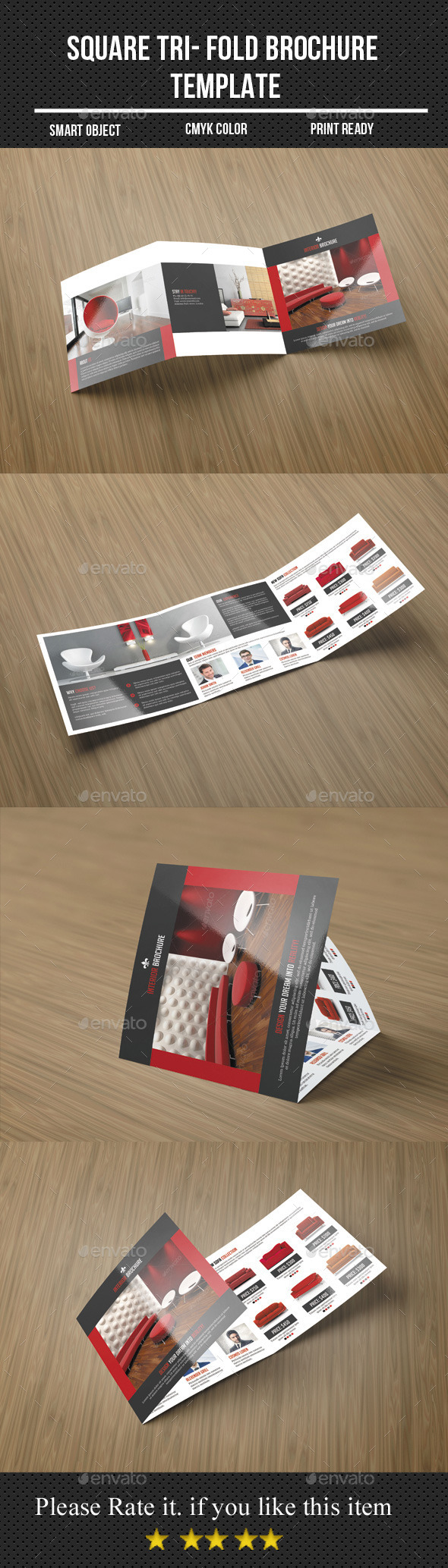 GraphicRiver Square Tri- Fold Interior Brochure 11298947