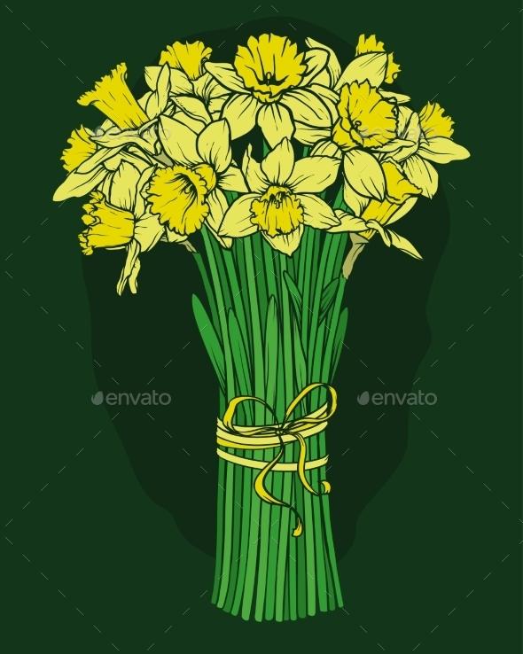 GraphicRiver Daffodils Bouquet 11298958