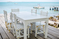 Wood dock White chair and table - PhotoDune Item for Sale