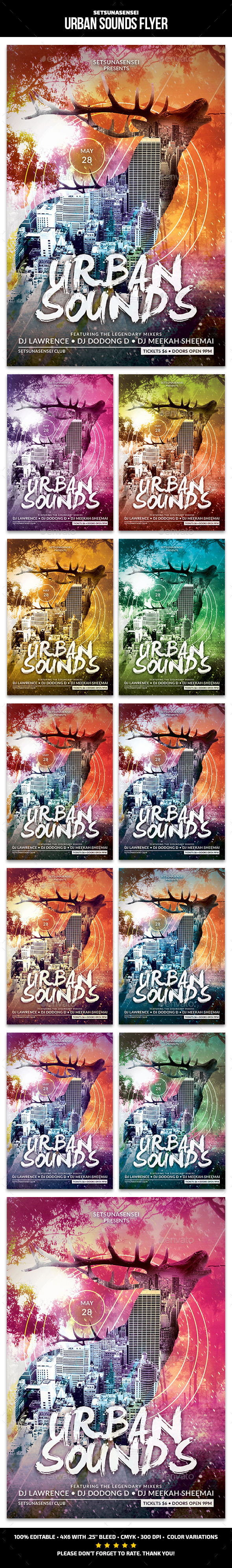 GraphicRiver Urban Sounds Flyer 11299105