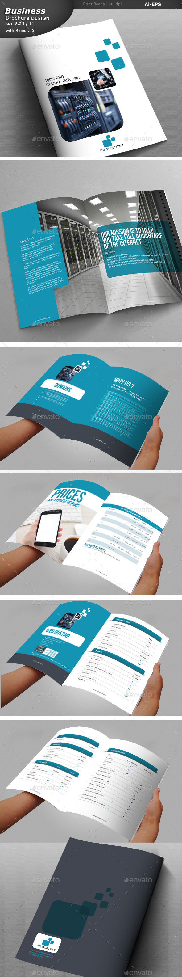 GraphicRiver Web Hosting Brochure Design 10065954