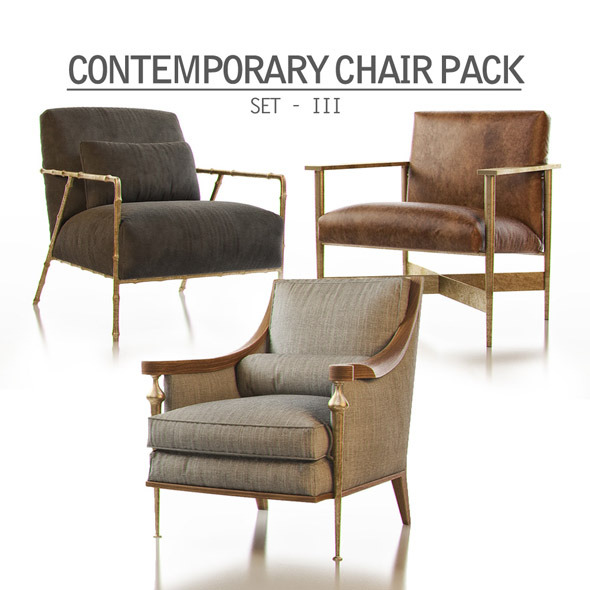 3DOcean Contemporary Chair Pack Set III 11299194