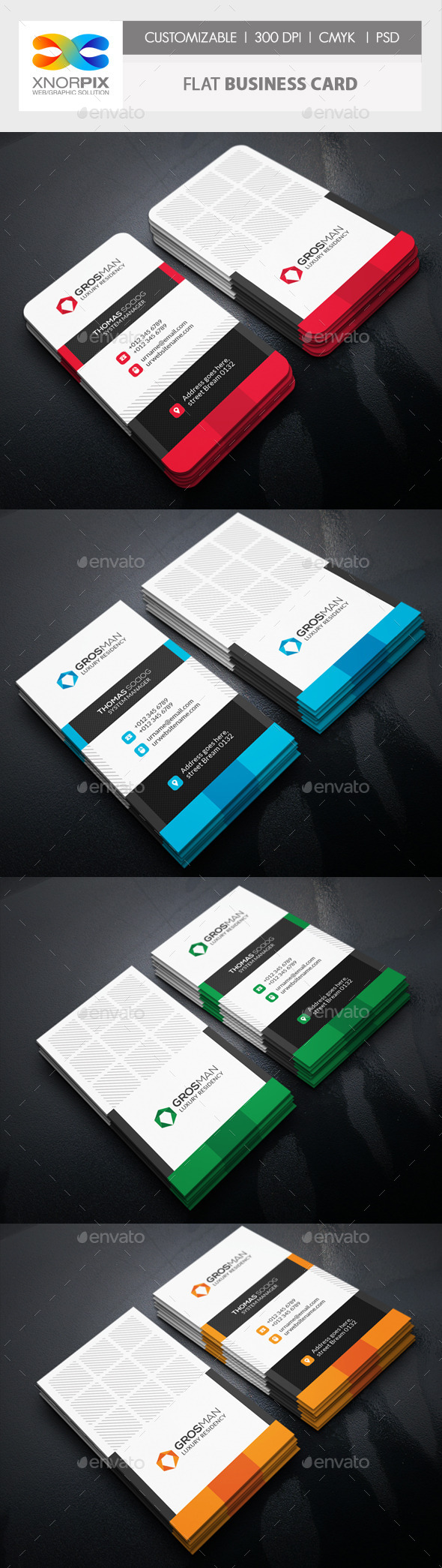 GraphicRiver Flat Business Card 11299207