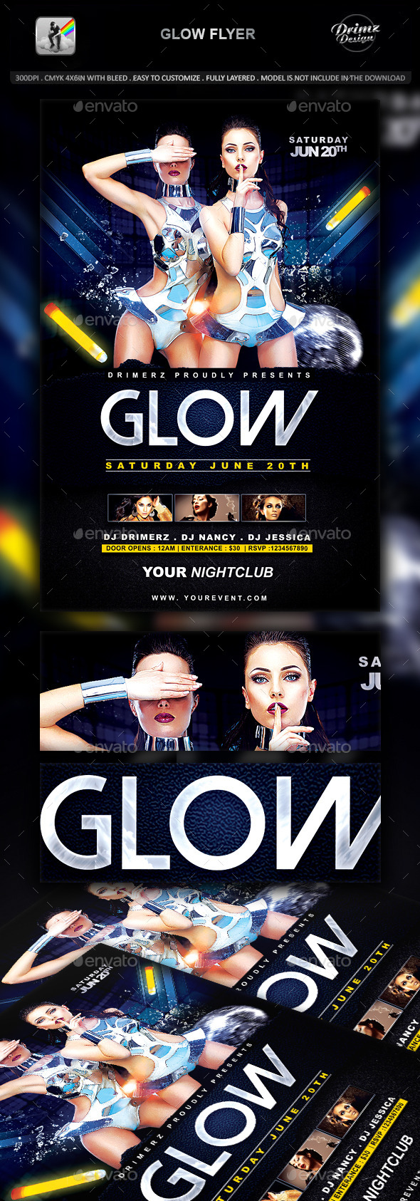 GraphicRiver Glow Flyer 11299250