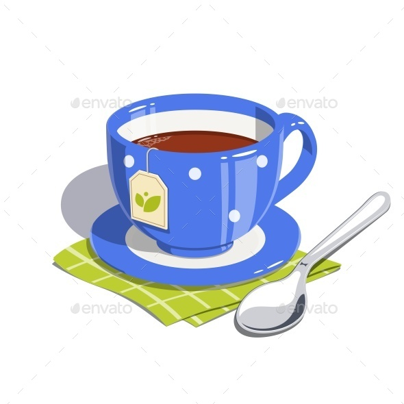 GraphicRiver Tea Cup and Spoon 11299286