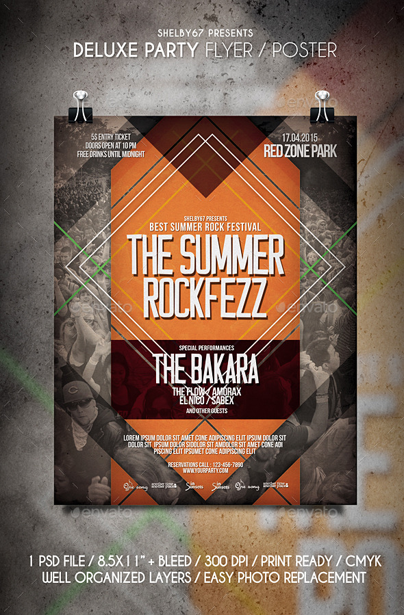 GraphicRiver Rock Music Flyer Poster Vol.6 11299489