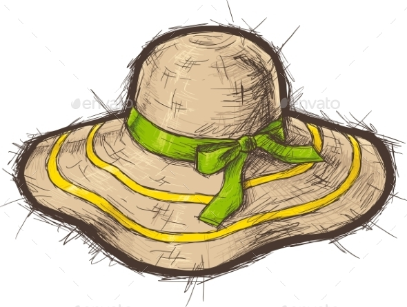 GraphicRiver Straw Beach Hat 11299698