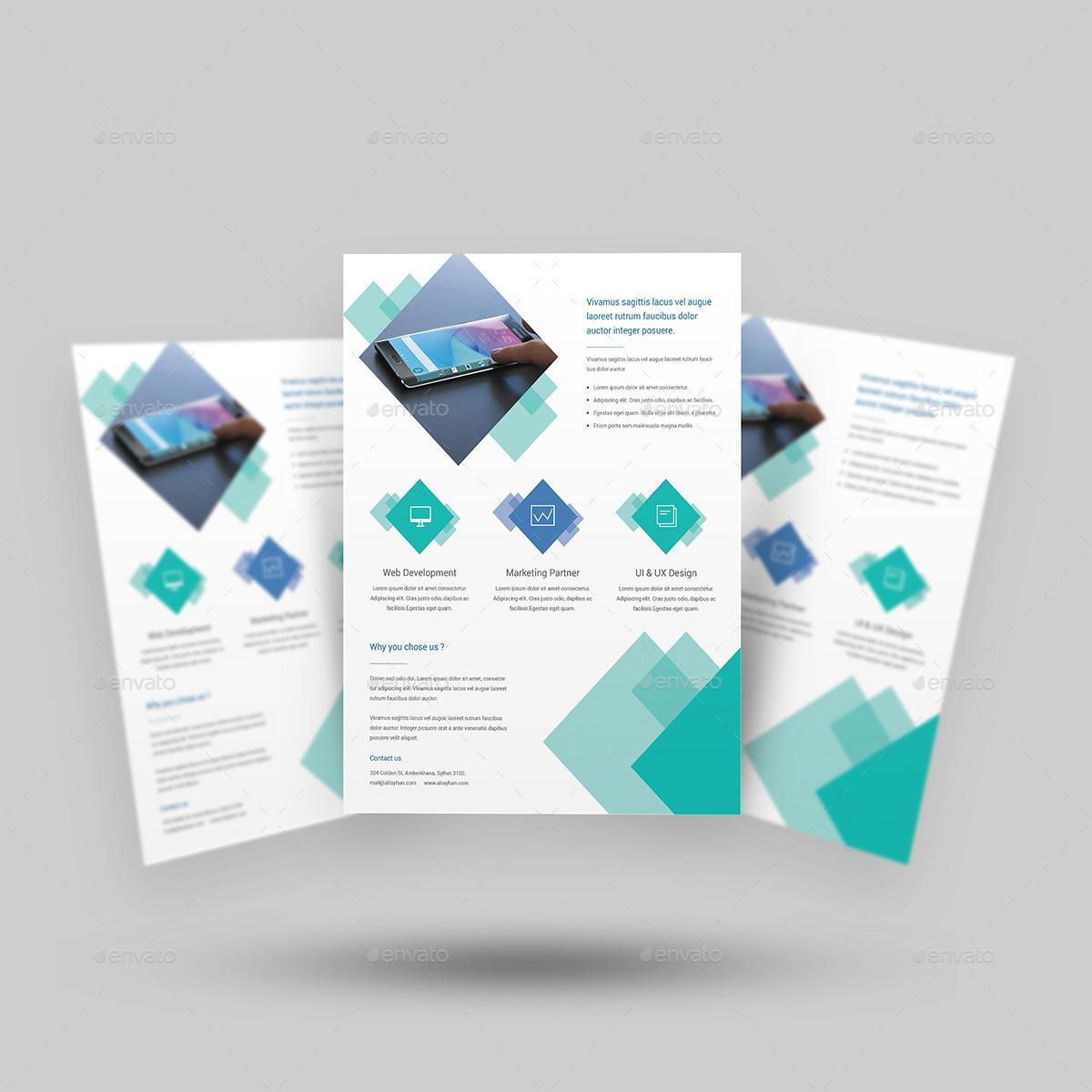 Digital Flyer Template Pasoevolistco - Digital brochure templates