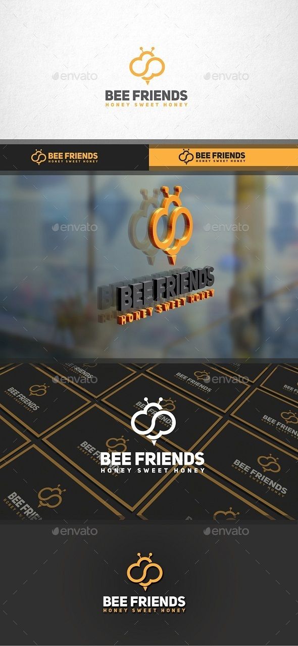 GraphicRiver Bee Friends Logo 11299927