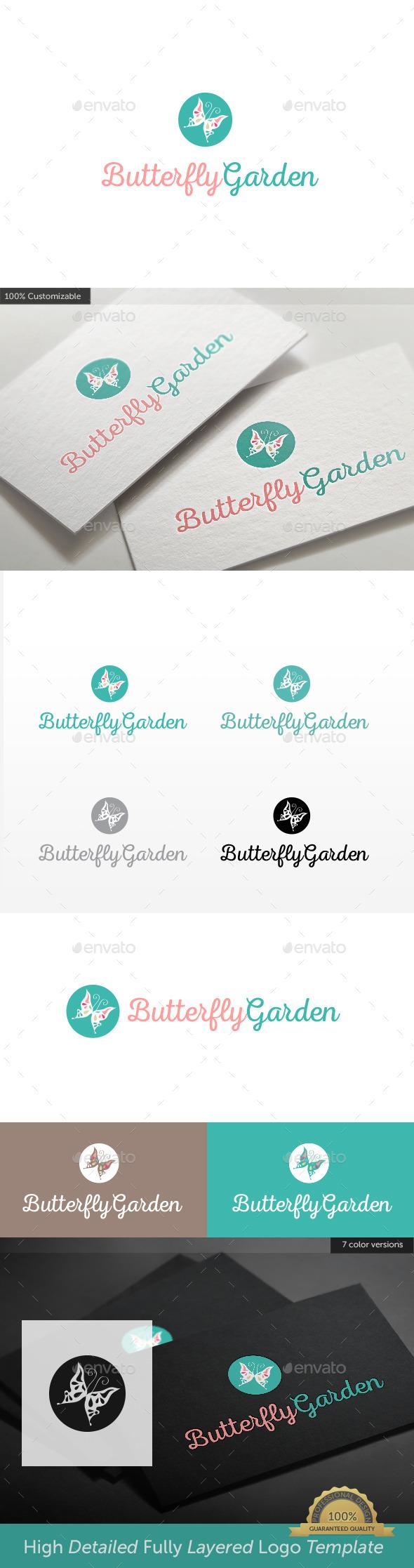GraphicRiver Butterfly Garden Logo 11300174