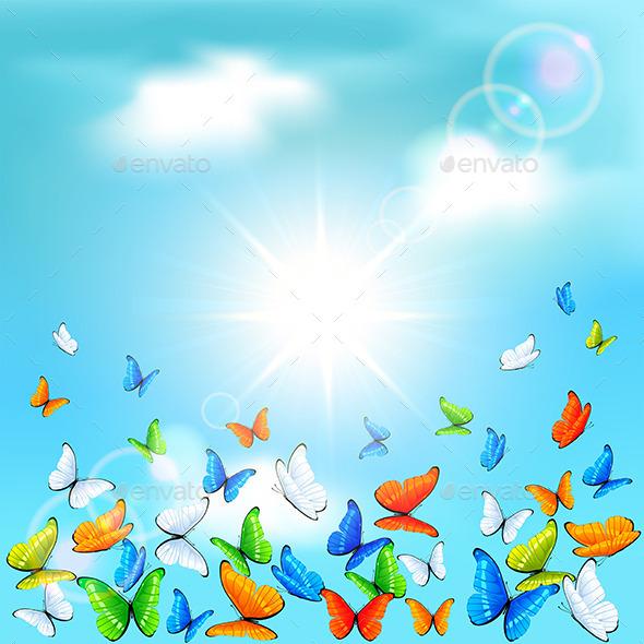 GraphicRiver Butterflies in Sky 11300300