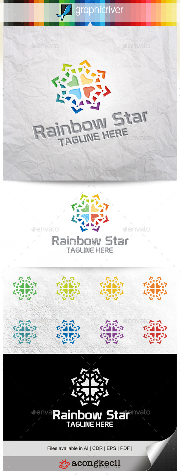 GraphicRiver Rainbow Star 11300454