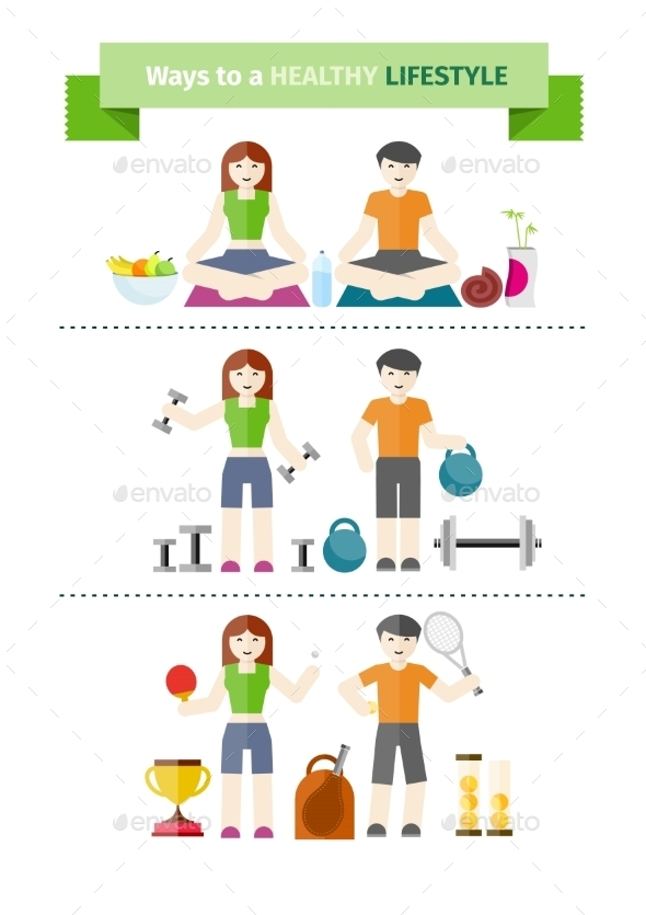 GraphicRiver Concept Of Healthy Lifestyle 11300652