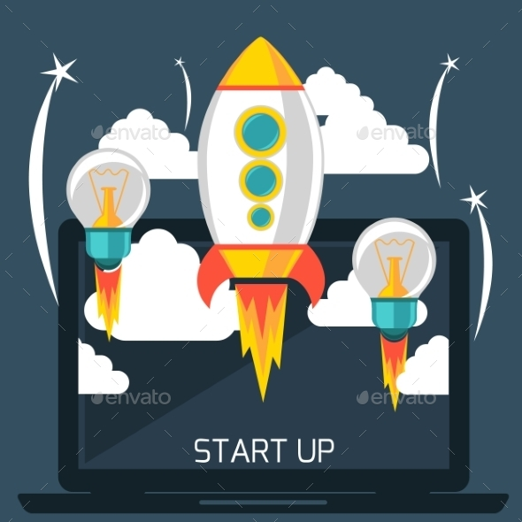 GraphicRiver Start Up Rocket 11300666