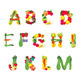 Alphabet Composed by Fruits and Vegetables - GraphicRiver Item for Sale