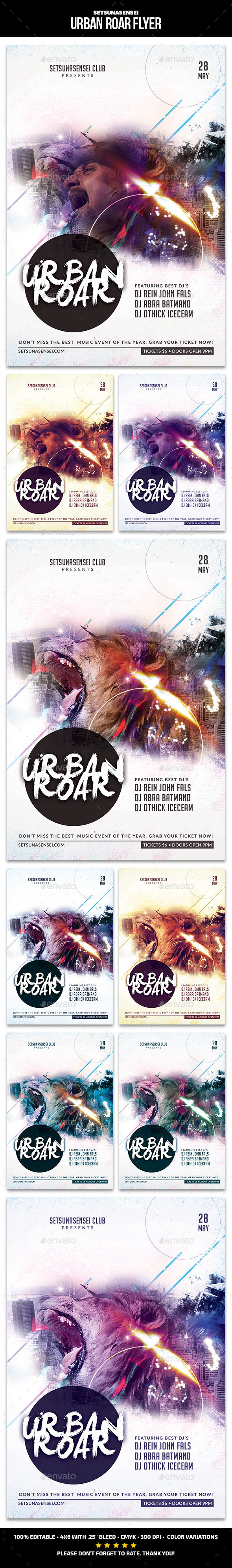 GraphicRiver Urban Roar Flyer 11300858