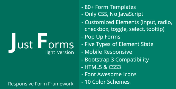 CodeCanyon Just Forms light 11300954