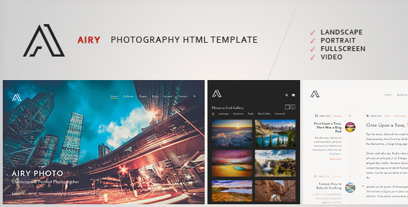 ThemeForest Airy Photography & Creative HTML Template 11252959