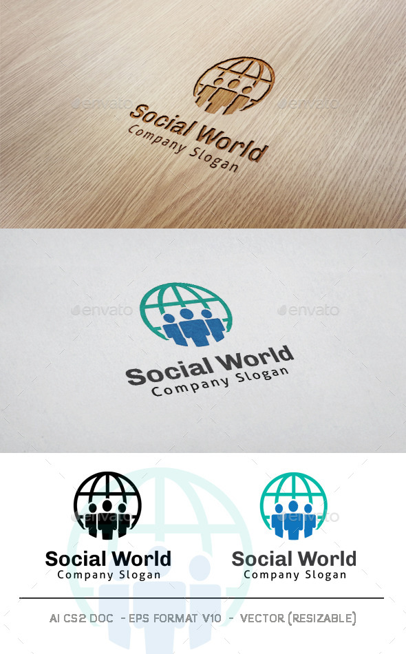 GraphicRiver Social World Logo 11301354