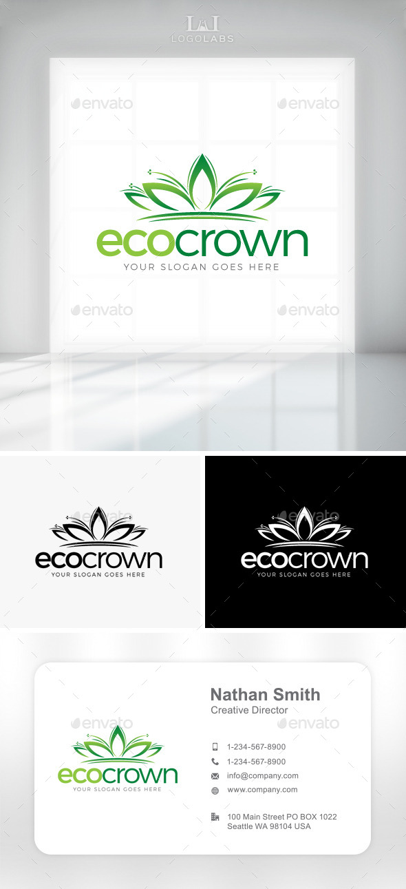 GraphicRiver Eco Crown Logo 11301410