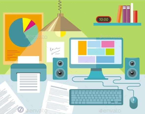 GraphicRiver Workplace Concept 11301420