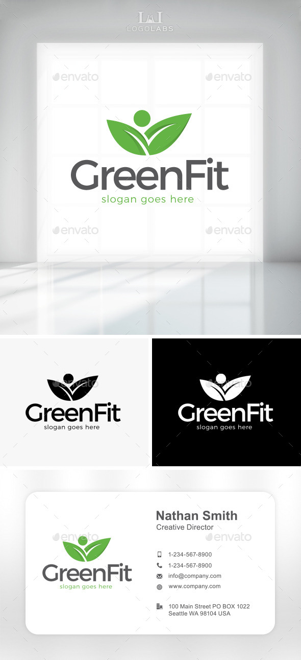 GraphicRiver Green Fit Logo 11301511
