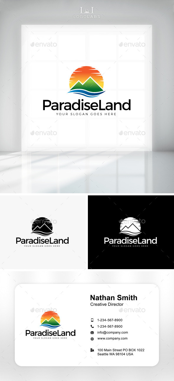 GraphicRiver Paradise Land Logo 11301525
