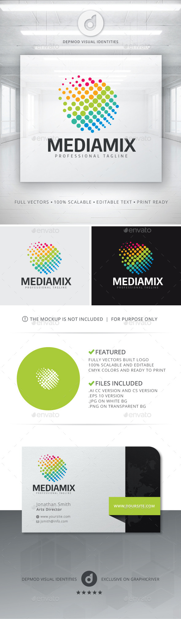 GraphicRiver Media Mix Logo 11301540