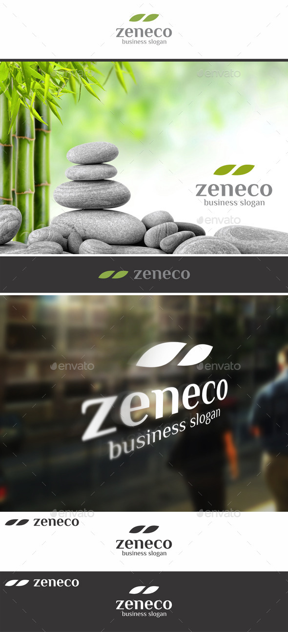 GraphicRiver Zen Eco Nature Leaf Logo 11301551