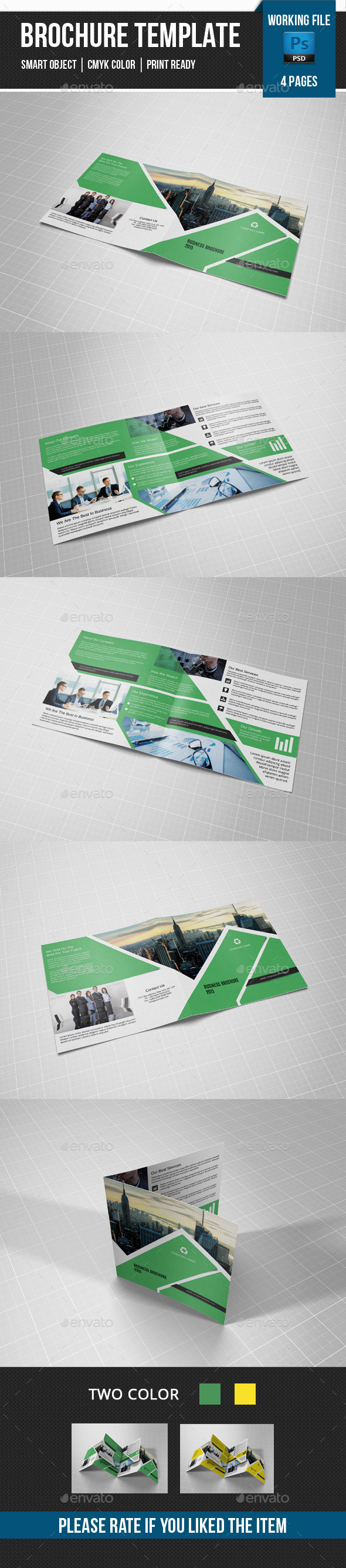 GraphicRiver Corporate Square Bifold Brochure-V23 11301603