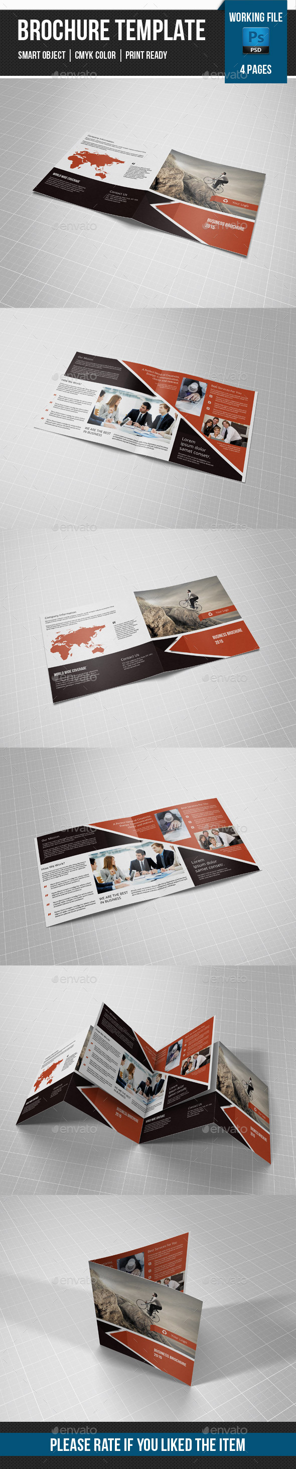 GraphicRiver Corporate Square Bifold-V22 11301619