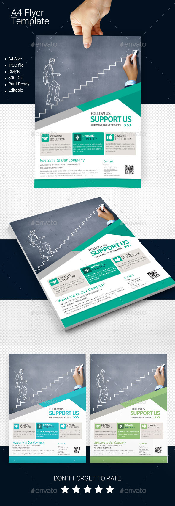 GraphicRiver A4 Business Flyer Template 05 11301670