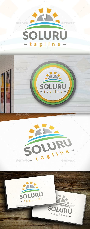 GraphicRiver Electric Sun Logo 11301685