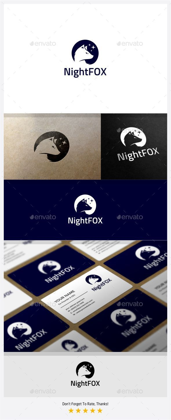 GraphicRiver Night Fox Logo 11301833