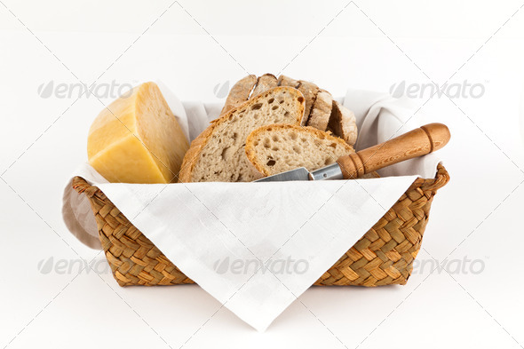Traditional bread and cheese. - Stock Photo - Images