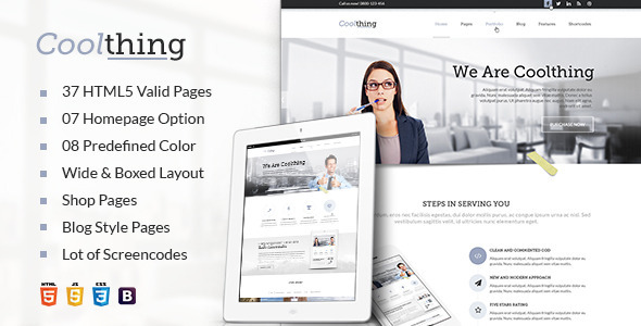 Coolthing Responsive HTML Template - Corporate Site Templates